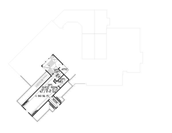 Craftsman Floor Plan - Upper Floor Plan #54-398