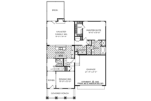 Colonial Floor Plan - Main Floor Plan Plan #927-975