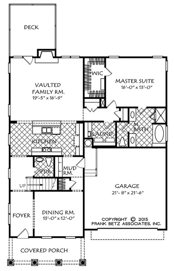 Colonial Floor Plan - Main Floor Plan Plan #927-975