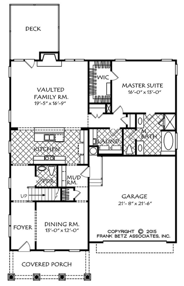 Colonial Style House Plan - 3 Beds 2.5 Baths 2128 Sq/Ft Plan #927-975 Floor Plan - Main Floor Plan