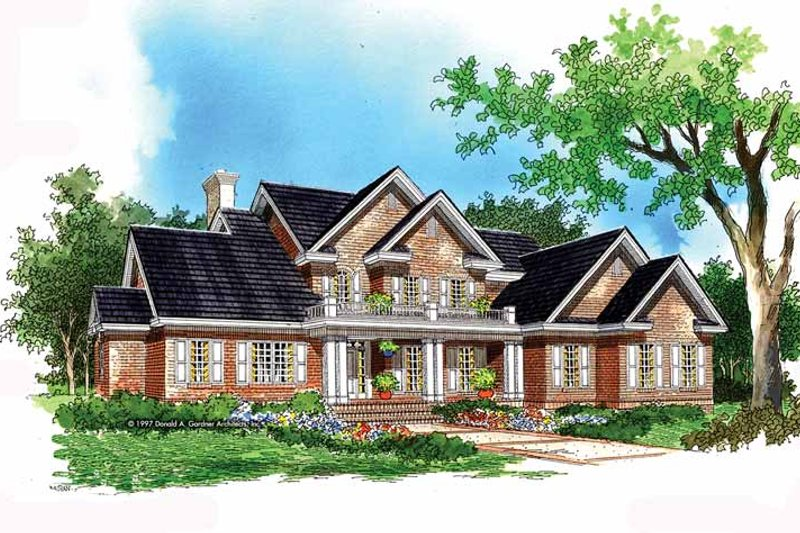 House Plan Design - Traditional Exterior - Front Elevation Plan #929-472