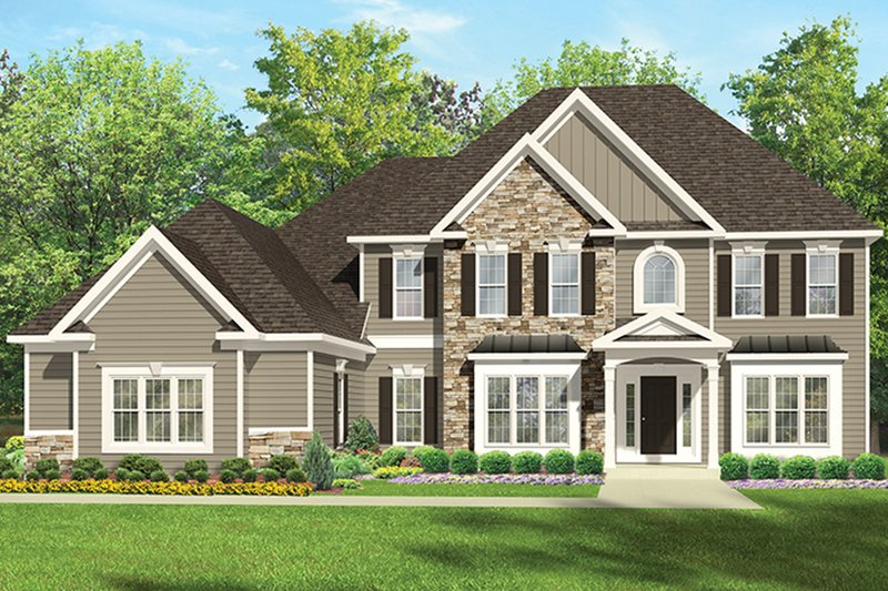Architectural House Design - Colonial Exterior - Front Elevation Plan #1010-167