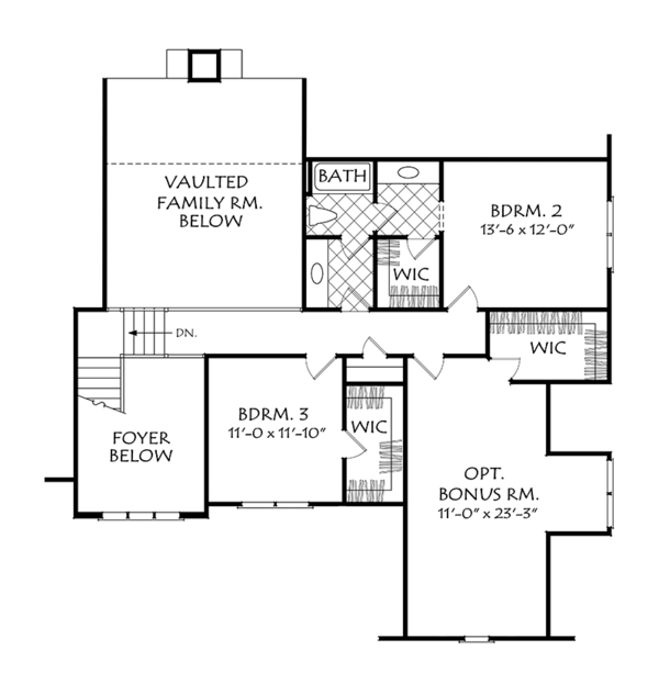 Cottage Floor Plan - Upper Floor Plan Plan #927-977