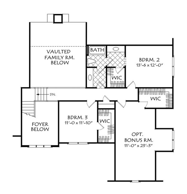 Dream House Plan - Cottage Floor Plan - Upper Floor Plan #927-977