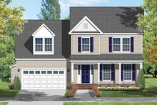 Colonial Exterior - Front Elevation Plan #1053-67