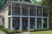 Southern Style House Plan - 4 Beds 3.5 Baths 3158 Sq/Ft Plan #1058-75 Exterior - Front Elevation
