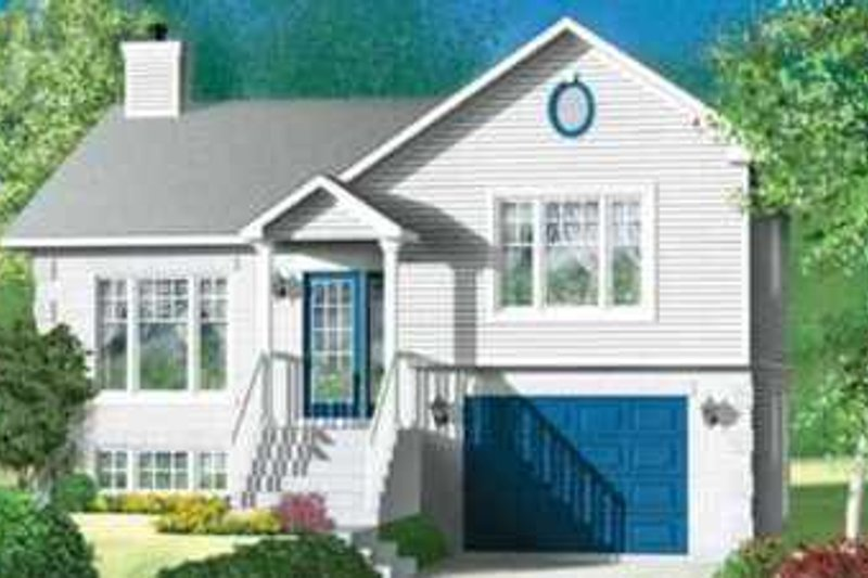 Traditional Style House Plan - 2 Beds 1 Baths 1082 Sq/Ft Plan #25-324 Exterior - Front Elevation