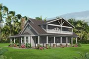 Country Style House Plan - 3 Beds 3.5 Baths 2250 Sq/Ft Plan #932-349 Exterior - Rear Elevation