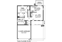 Ranch Floor Plan - Main Floor Plan Plan #70-1014