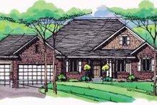 Architectural House Design - European Exterior - Front Elevation Plan #51-989