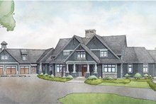 Architectural House Design - Craftsman Exterior - Front Elevation Plan #928-292