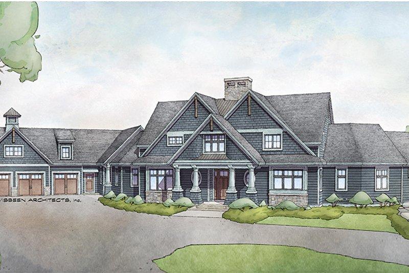 Dream House Plan - Craftsman Exterior - Front Elevation Plan #928-292