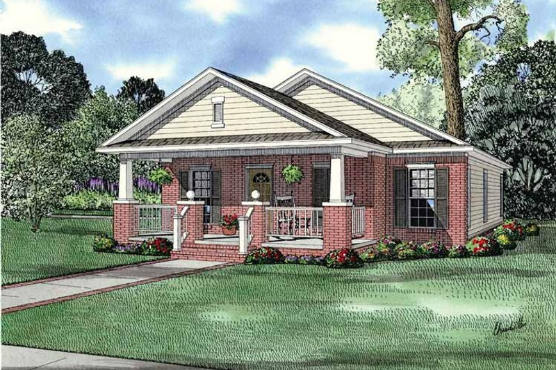 House Plan Design - Country Exterior - Front Elevation Plan #17-2812
