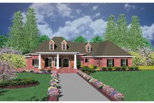 Architectural House Design - European Exterior - Front Elevation Plan #36-522