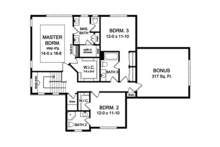 Traditional Floor Plan - Upper Floor Plan Plan #1010-134