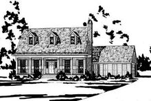 Home Plan - Country Exterior - Front Elevation Plan #36-161