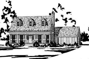 Architectural House Design - Country Exterior - Front Elevation Plan #36-161