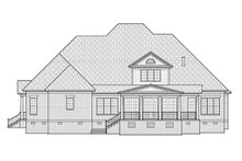 Home Plan - Traditional Exterior - Rear Elevation Plan #1054-23