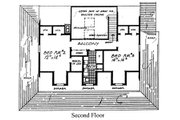 Country Style House Plan - 3 Beds 2.5 Baths 2190 Sq/Ft Plan #315-107 Floor Plan - Upper Floor
