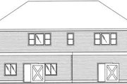 Traditional Style House Plan - 3 Beds 2 Baths 1378 Sq/Ft Plan #117-359 Exterior - Rear Elevation