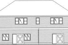 Dream House Plan - Traditional Exterior - Rear Elevation Plan #117-359