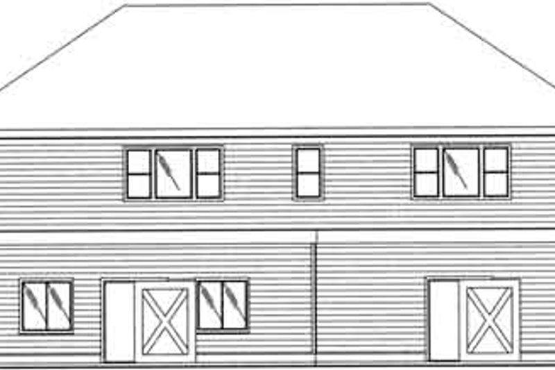 Traditional Exterior - Rear Elevation Plan #117-359 - Houseplans.com
