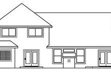 Architectural House Design - Mediterranean Exterior - Rear Elevation Plan #124-356