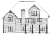 European Style House Plan - 3 Beds 2.5 Baths 2754 Sq/Ft Plan #10-222 Exterior - Rear Elevation