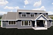 Craftsman Style House Plan - 6 Beds 4.5 Baths 5120 Sq/Ft Plan #920-10 Exterior - Rear Elevation