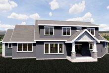 House Plan Design - Craftsman Exterior - Rear Elevation Plan #920-10