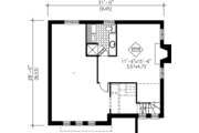 Modern Style House Plan - 3 Beds 1.5 Baths 1497 Sq/Ft Plan #25-4230 Floor Plan - Lower Floor