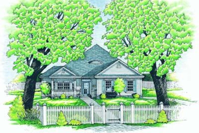 Traditional Exterior - Front Elevation Plan #20-490 - Houseplans.com