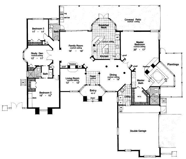 European Floor Plan - Main Floor Plan Plan #417-352