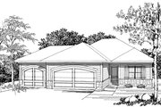 Ranch Style House Plan - 2 Beds 2 Baths 1367 Sq/Ft Plan #70-1020 Photo