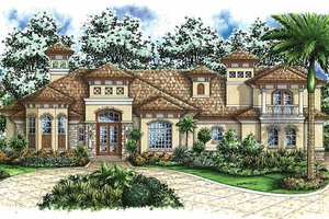 Mediterranean Exterior - Front Elevation Plan #1017-41