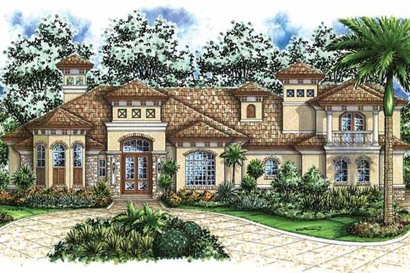 Dream House Plan - Mediterranean Exterior - Front Elevation Plan #1017-41