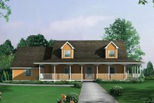 Home Plan - Country Exterior - Front Elevation Plan #57-228