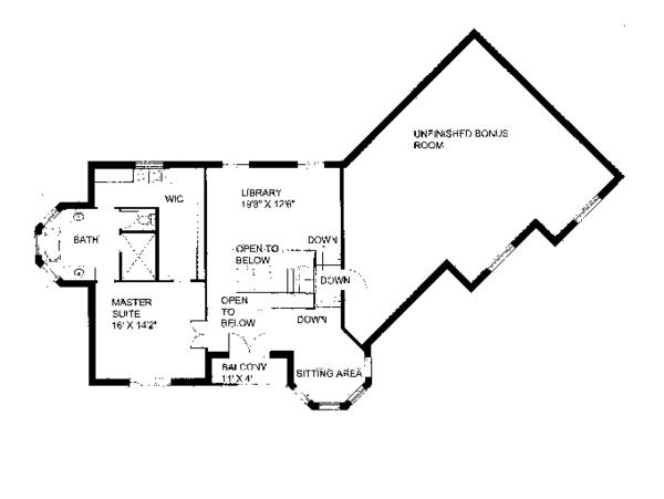 Victorian Floor Plan - Upper Floor Plan Plan #117-864