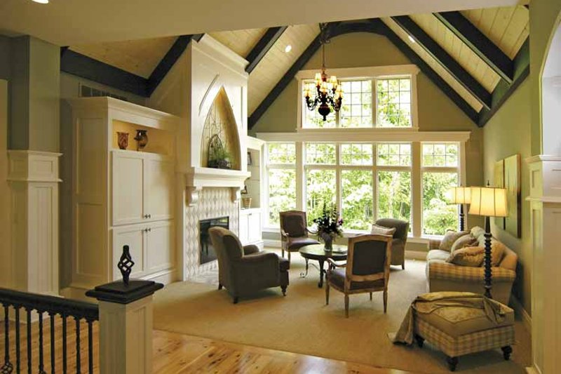 European Interior - Family Room Plan #928-42 - Houseplans.com