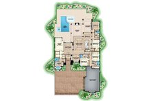 Mediterranean Floor Plan - Main Floor Plan Plan #1017-160