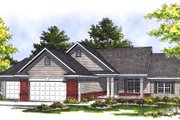 Traditional Style House Plan - 3 Beds 2.5 Baths 1755 Sq/Ft Plan #70-188 Exterior - Front Elevation