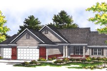 Traditional Exterior - Front Elevation Plan #70-188