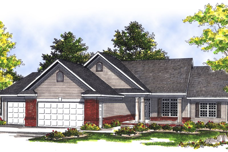 Traditional Exterior - Front Elevation Plan #70-188 - Houseplans.com
