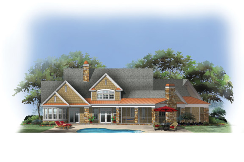 European Exterior - Rear Elevation Plan #929-903 - Houseplans.com