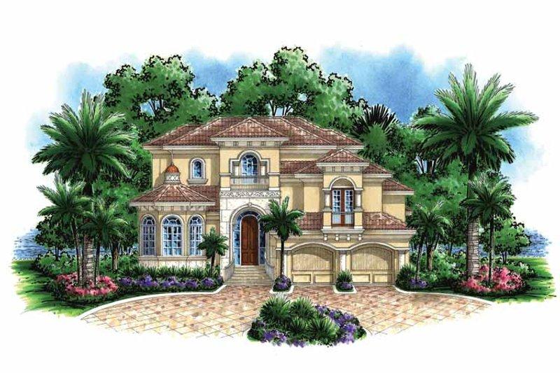 Mediterranean Exterior - Front Elevation Plan #1017-132 - Houseplans.com