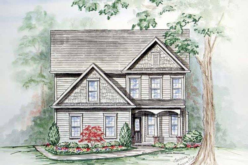 Craftsman Exterior - Front Elevation Plan #54-332 - Houseplans.com