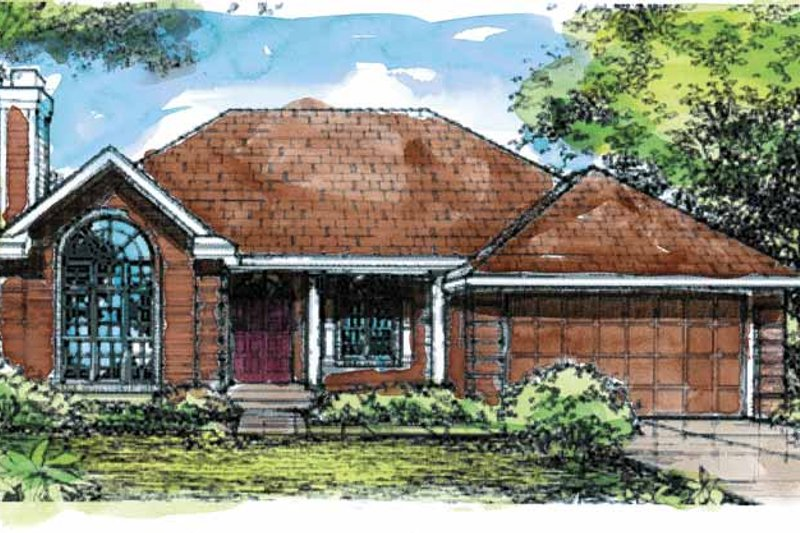 European Exterior - Front Elevation Plan #320-627 - Houseplans.com
