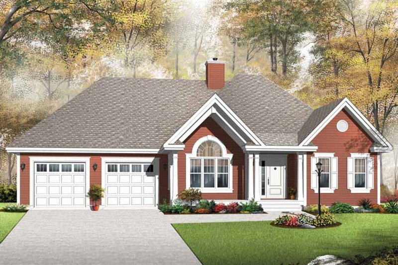 Country Exterior - Front Elevation Plan #23-2533 - Houseplans.com