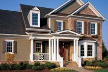 House Plan Design - Colonial Exterior - Front Elevation Plan #429-259