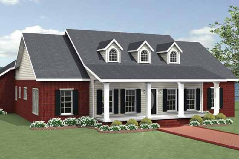 House Plan Design - Country Exterior - Front Elevation Plan #44-221